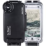 Andoer iPhone 7専用 防水 ダイビングハウジング 保護 カバーケース 水中 40M/ 130ft 水中撮影最適