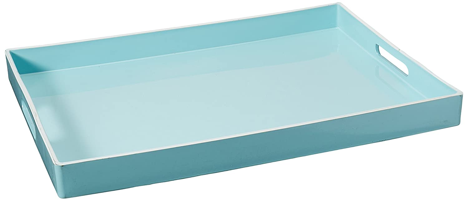 American Atelier Rectangular Tray with Handle, Teal Jay Imports 1270065