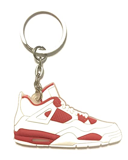 WeTheFounders Zapatos Sneaker Llavero AJ-4 Retro, Rojo ...