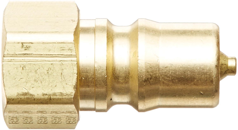 1//4-18 NPTF Female Plug with Valve 1//4 Body EPDM Seal 1//4-18 NPTF Female 1//4 Body Eaton Hansen B2K16192 Brass ISO-B Interchange Hydraulic Fitting