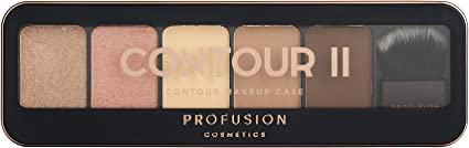 Profusion Cosmetics Estuche de maquillaje profesional Contour II - Medio oscuro: Amazon.es: Belleza