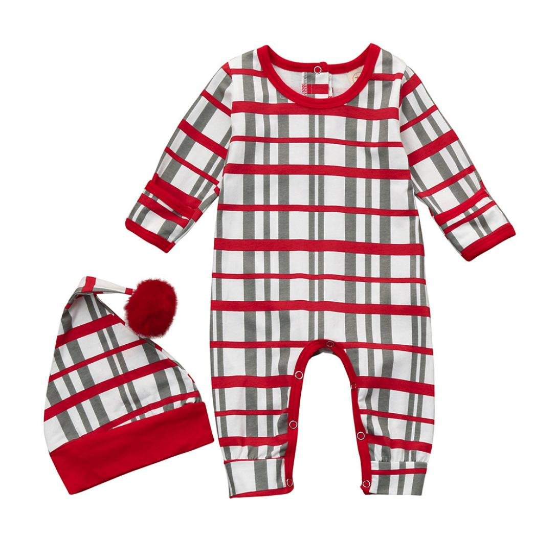 bb53834421b3 Amazon.com  FORESTIME Cute Newborn Infant Baby Girl Boy Stripe Print ...