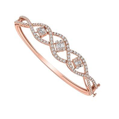 Amazon Com Omega Jewellery 10k Gold Round Baguette Shape Real