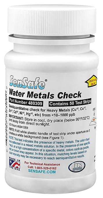 50 tiras de prueba de metales pesados, pruebas de Kit para el hierro, cobre, cobalto, zinc, cadmio, níquel, plomo, mercurio: Amazon.es: Industria, ...