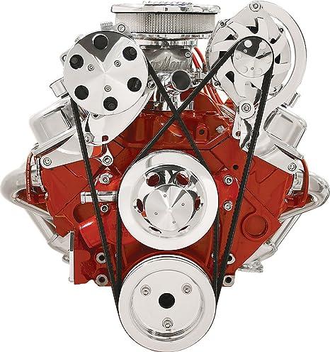 Nueva Billet Specialties SBC Vortec Pulido & de Alternador A/C compresor Soportes, Chevy