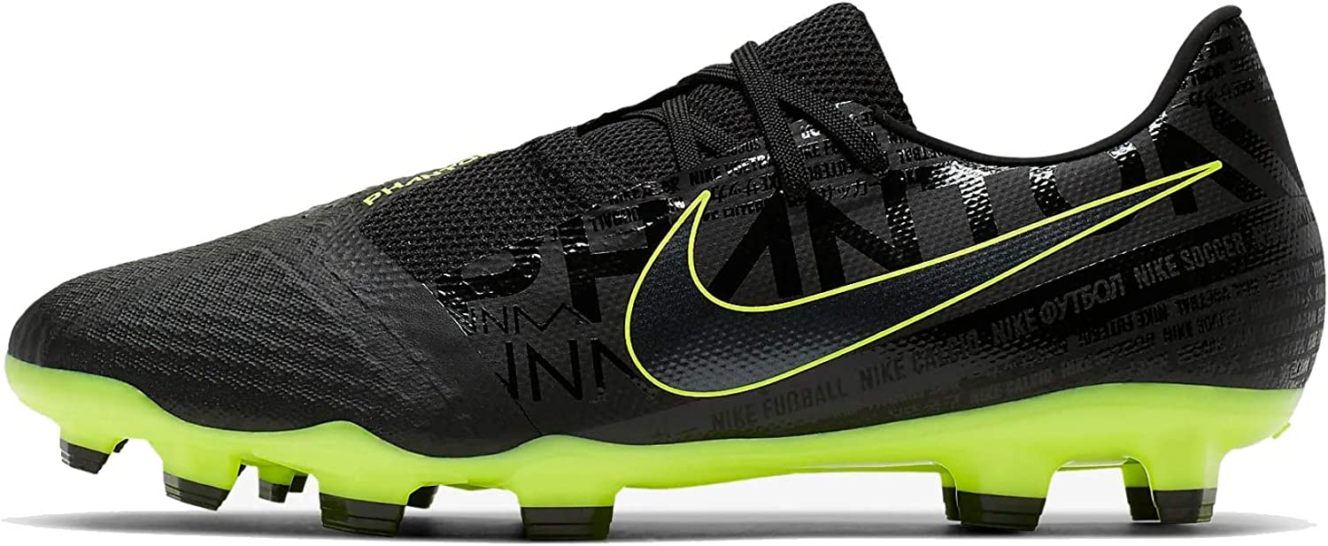 Nike Men's Footbal Shoes, Black Black Black Volt 007