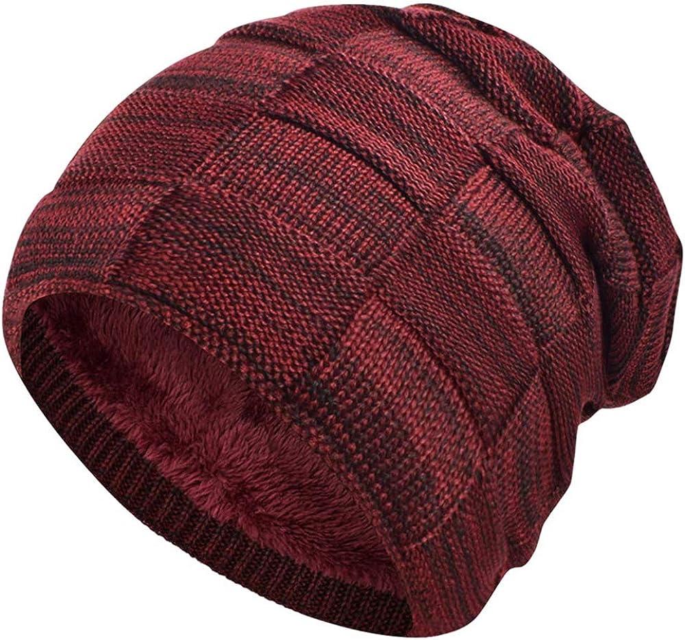 heekpek Slouch Beanie Hat Men Women Fleece Lined Soft Winter Warm Knitted Cap Unisex Cozy Chunky Winter Windproof for Ski Moto