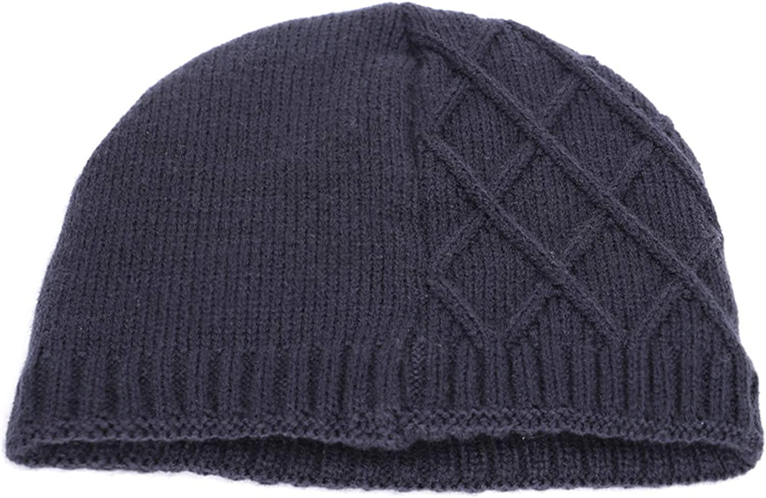 Winter Mens Knit Hats Plus Velvet Thick Warm and Comfortable Loose Delicate Embroidery caps