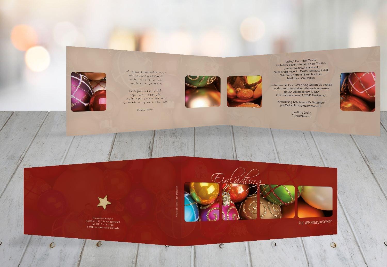 Kartenparadies Einladungskarte zu Weihnachten Einladung Christbaumkugeln, hochwertige Weihnachtseinladung zum Selbstgestalten (Format  215x105 mm) Farbe  OckerBraun B01MYM201J | Das hochwertigste Material  | Verbraucher zuerst  | Modisch