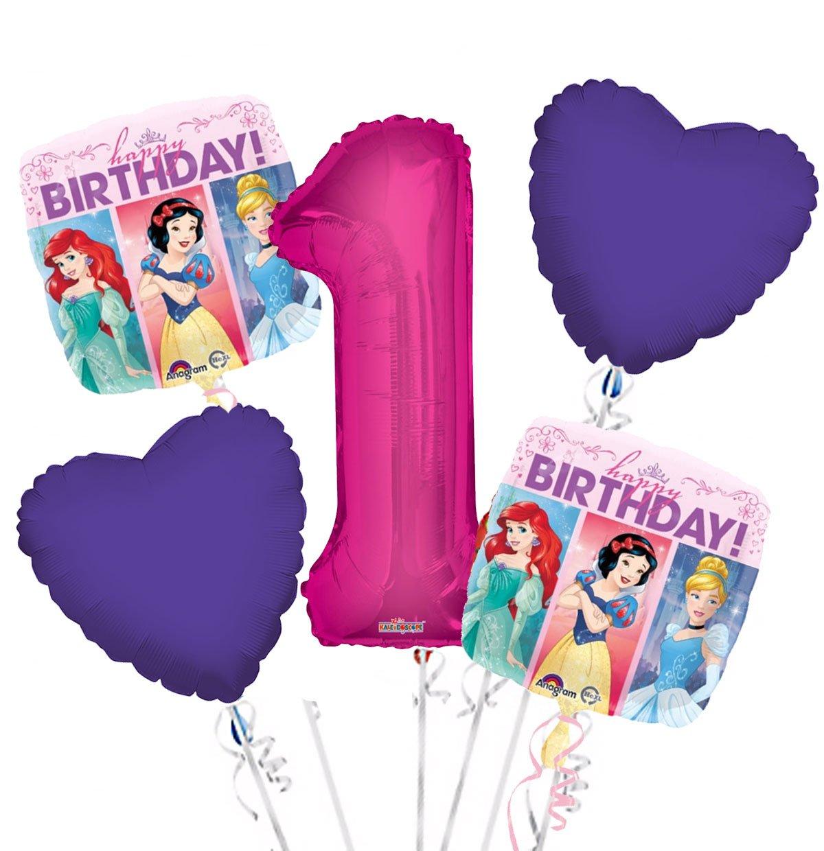 Party Supplies Princess Balloon Bouquet 1st Birthday 5 pcs