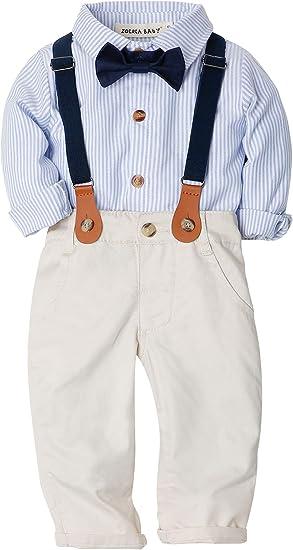 ZOEREA 2 Piezas Conjunto de Ropa de Bebé Niño Pantalones + ...
