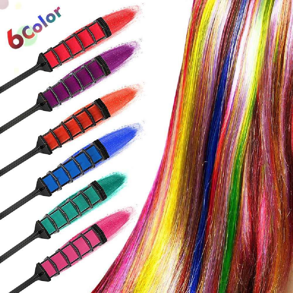 NIUHAIQING Mini Peine De Tinte Para El Cabello De 6 Colores ...