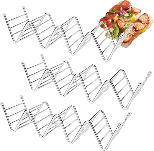 Small Stainless Holder Rack for Tacos