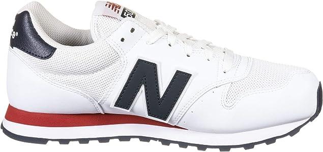 New Balance 500 Core, Zapatillas para Hombre, Blanco (Munsell White/Eclipse/Tempo Red Swb), 40 EU: Amazon.es: Zapatos y complementos
