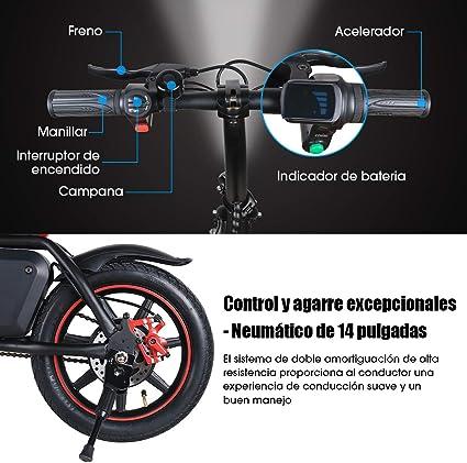 Windgoo Bicicleta Eléctrica Plegables, 350W Motor Bicicleta ...