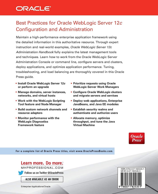 Oracle WebLogic Server 12c Administration Handbook: Amazon