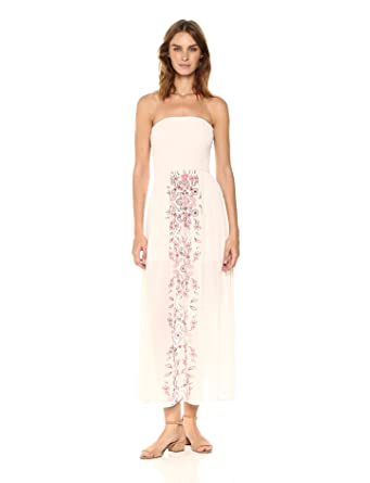 7c6d09b670d Taylor and Sage Women s Smocked Printed Maxi Dress at Amazon Women s ...