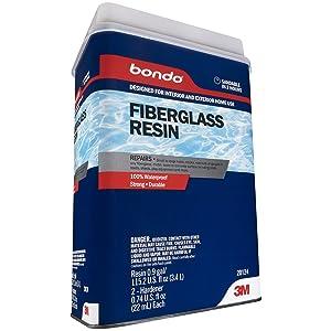 Bondo Fiberglass Resin, 20124, 0.9 Gallon