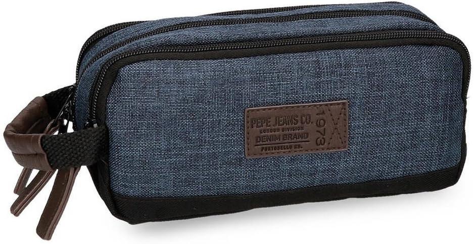 Pepe Jeans Worn 73 Neceser de Viaje, 1.98 litros, Color Azul: Amazon.es: Equipaje