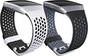 SKYLET Compatible with Fitbit Ionic Bands for Men Women Gray, White