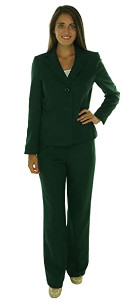 Amazon Com Evan Picone Women S Two Pocket Seamed Blazer Pant Suit