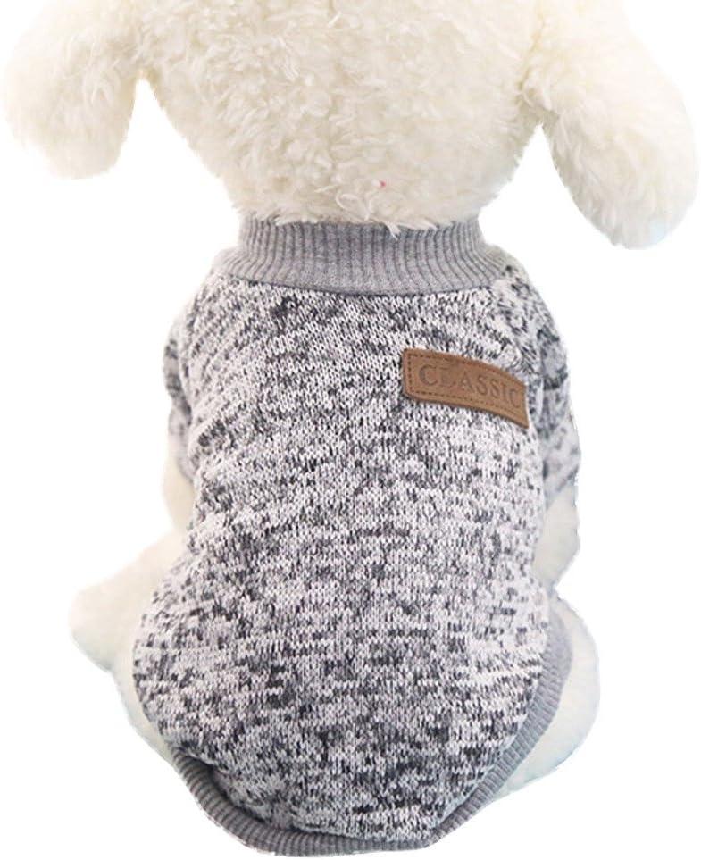 Loveso Hund Sweatshirts Winter Pullover Puffer Hundemantel Hunde Puppy Kleine Haustier Warm Kleidung Dog Clothes Sweater Tops