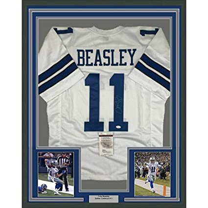 low priced 62560 4473f Autographed Cole Beasley Jersey - FRAMED 33x42 White COA ...