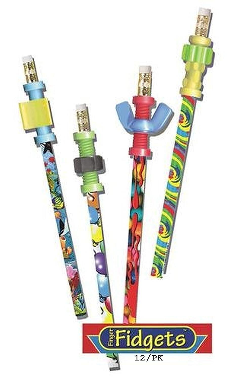 Dedo Fidget lápices con Fidget Toppers lápices – Set de 12 lápices Toppers con Fidgets – Lápiz Fidgets de Express pencilstm 5ab0b7