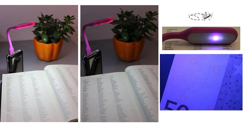 rosa Digger DBL 200 USB LED Tastaturlampe Biegsame