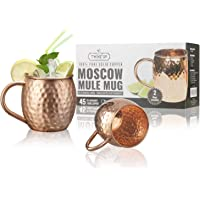 Kupfer Moscow Mule Tasse – Kupferkappen Twinz'Up – Keine Beschichtung – Gehämmertes Kupfer – 45cl Fassungsvermögen