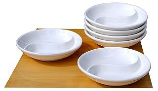 Blanco Yin Yang platos 10cm x6