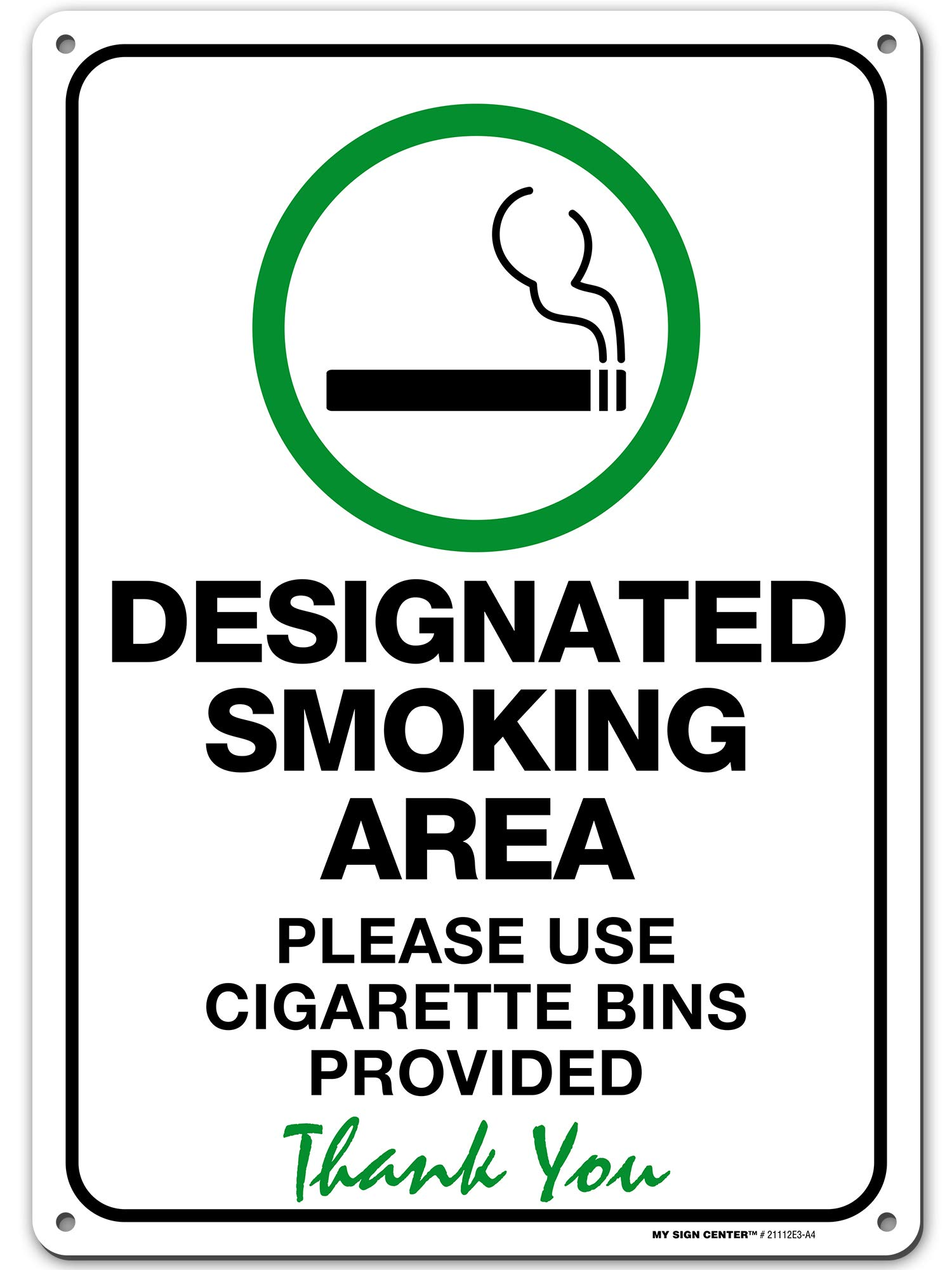 Designated Smoking Area Sign Please Use Cigarette Bins Provided Outdoor Rust Free Metal 10 X 14 By My Sign Center 21112e3 A4 Buy Online In Colombia My Sign Center Products In,Nursing School T Shirt Designs