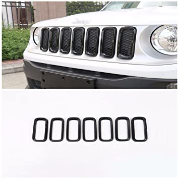 bestmotoring coche rejilla delantera parrilla de malla para accesorios para Jeep Renegade 16 – negro