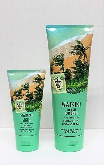 One For Home One For Travel Waikiki Beach Coconut Ultra Shea Body Cream Set
