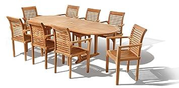 Java Teak Salon de jardin 17 éléments Design Westminster: Amazon.fr ...