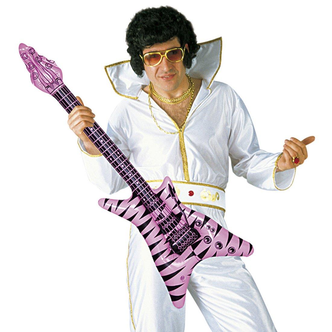 Amakando Deko Luftgitarre Rockstar Gummigitarre Funky Rocker Inflatable Guitar Aufblasbare Gitarre Partydeko aufblasbar Mottoparty Musikinstrument Accessoire Party Gitarren Instrument