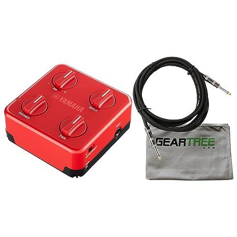 Yamaha SC-01 - Mezclador de auriculares para guitarra y bajo eléctrico (rojo)