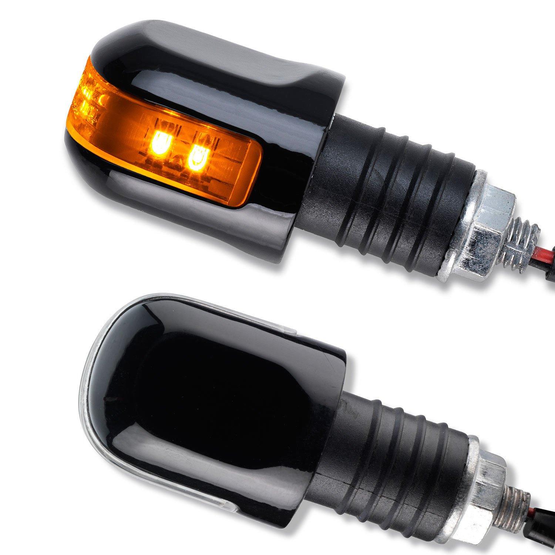 """/""""helmy/"""" orange E-geprüft für Motorrad NEU Lenkerenden Blinker 2 St"""