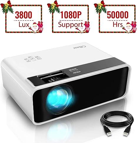 Amazon.com: Mini proyector, proyector de vídeo CiBest 3800 ...
