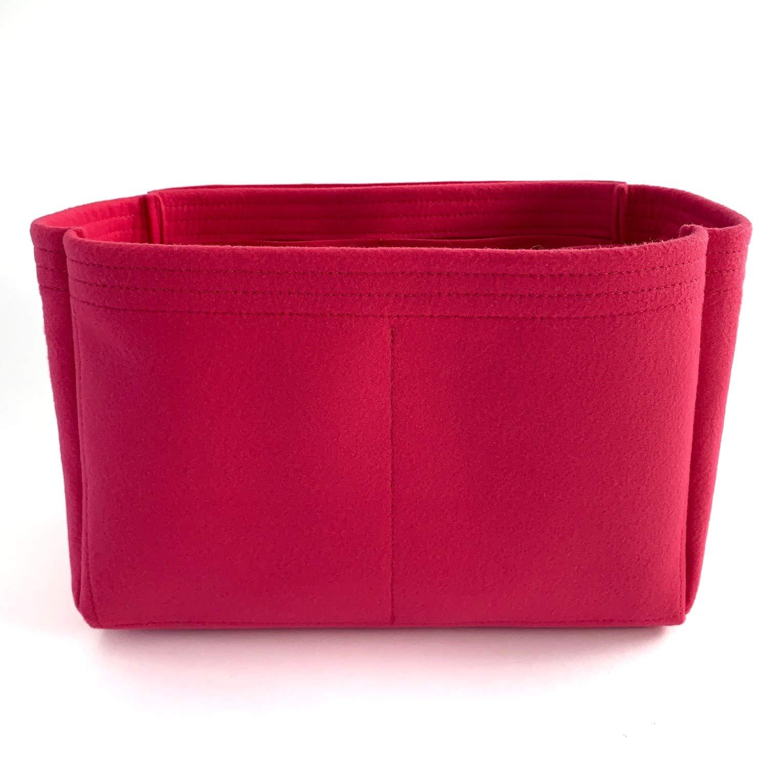 Purse Organizer Insert for LV Graceful Handbag - Fits inside Louis Vuitton Graceful MM bag - Thick Felt (MM, Fuchsia)