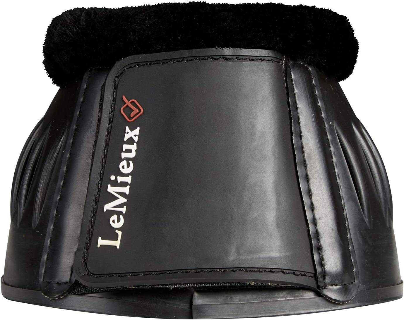 Black XX-Large LeMieux Unisexs Rubber Bell Boots with Fleece Pair Over Reach