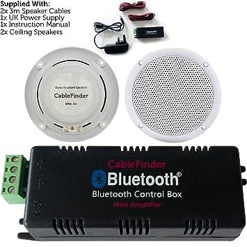 Amplificador de Bluetooth/inalámbrico & 2 x 80 W altavoz de techo kit-compact