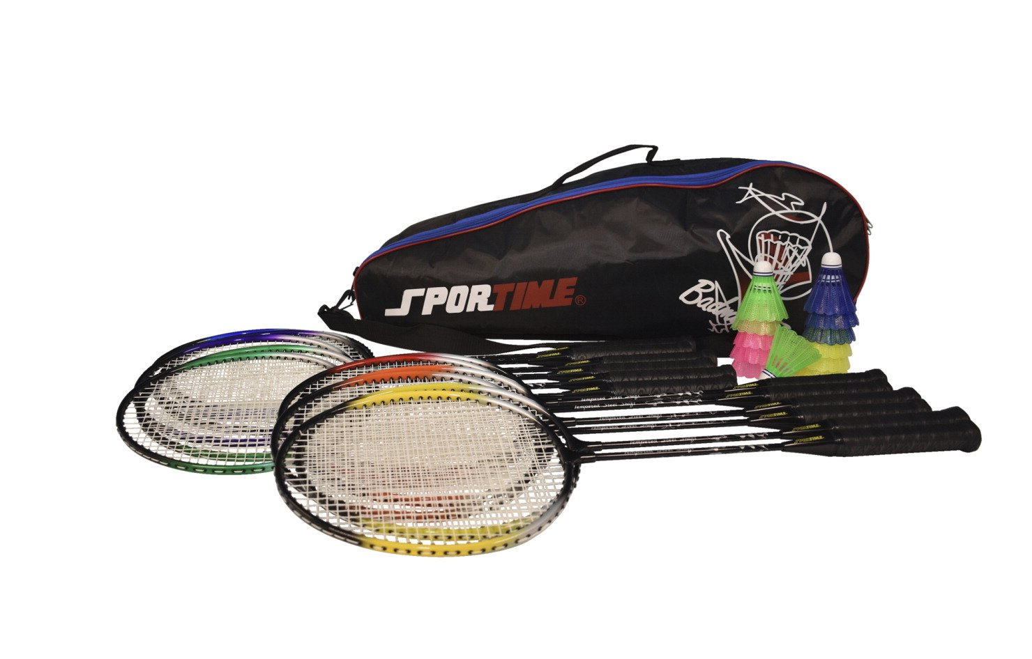 Sportime School Badminton Set - Includes 12 Racquets, 12 Shuttlecocks and Carrying Bag by Sportime (Image #2)