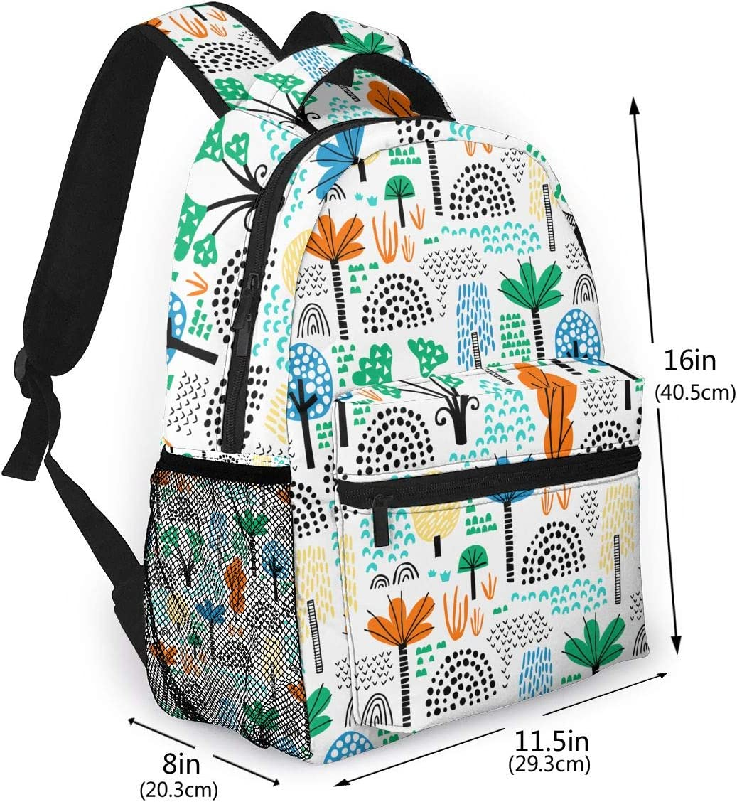 Different Kinds Of Trees Fashion Outdoor Shoulders Bag Durable Travel Camping Backpack For Adult