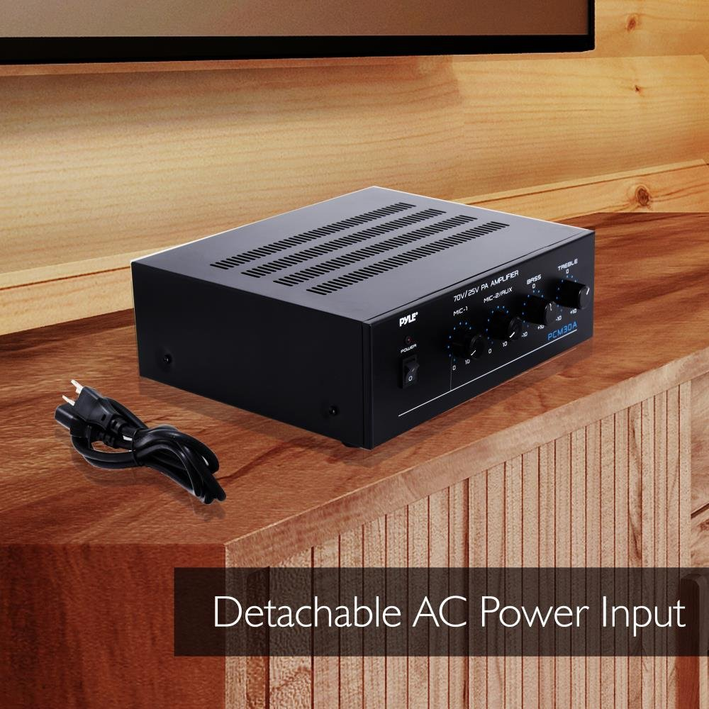 Pyle Pcm30a 60 Watts Power Amplifier With 25 And 70 Volt 8 Ohm 60w Output Home Audio Theater
