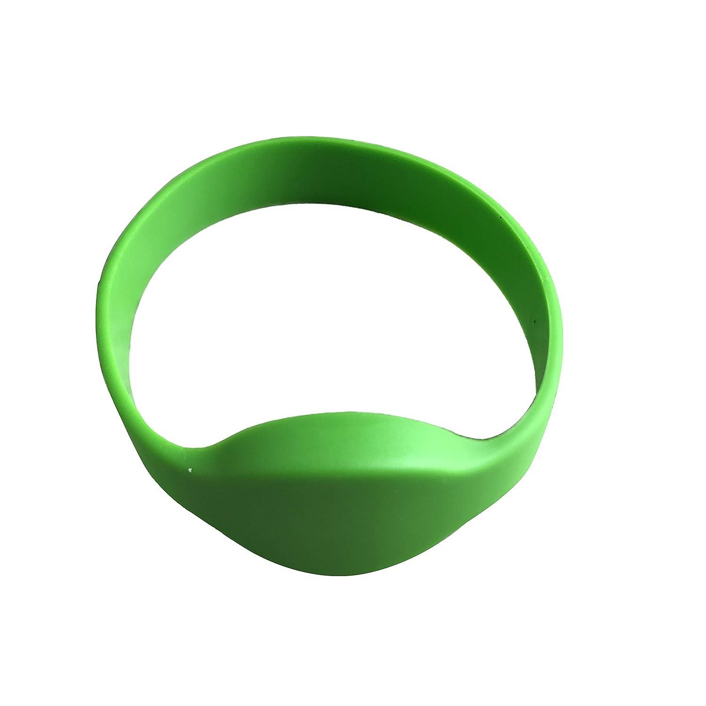 Mu/ñequeras RFID 125/KHz EM4100/RFID TK4100/de s/ólo lectura puerta entrada Control de acceso de silicona pulsera Pack de 5