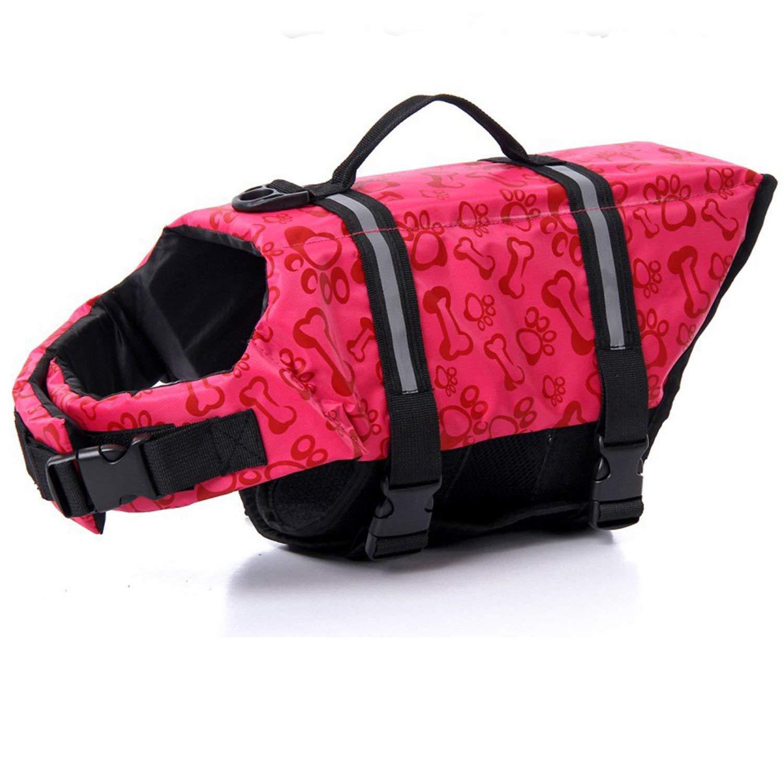 HAOCOO 犬用ライフジャケットベスト 光反射ストライプ/調節可能なベルト付き 犬の多様なサイズに対応 B01HJACGDM 3S|Pink Bone Pink Bone 3S