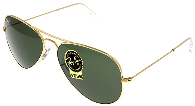 1179e97bc Image Unavailable. Image not available for. Color: Ray Ban Sunglasses  Aviator Gold Unisex RB3025 L0205