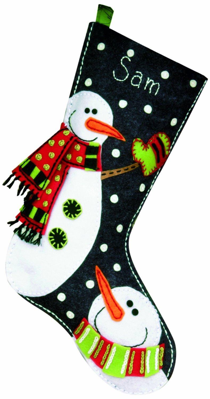 Dimensions Felt Applique, Snowmen Stocking DiMarzio 72-08176