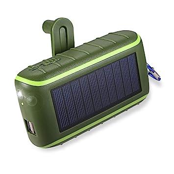Cargador solar, banco de la energía solar del cargador del teléfono de la manivela 10000mAh